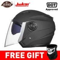 Casco de Moto JIEKAI, casco de Moto de cara abierta, casco de Moto