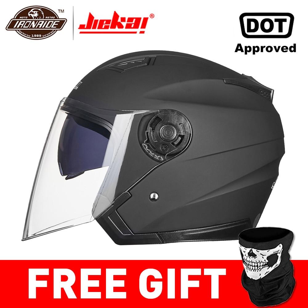 JIEKAI Helmet Motorcycle Open Face Motorcycle Helmet Moto Helmets Motocicleta Cascos Para Motorbiker Scooter Riding Helmet