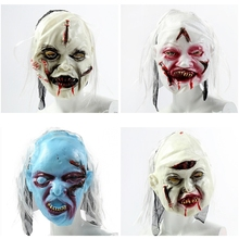 Scary Party Halloween Mask Halloween Horror Mask Hallow Party Decoration Full Face Horrible Slipknot Mask Adult  Party Supplies halloween horrible ghost printed party mask with wig