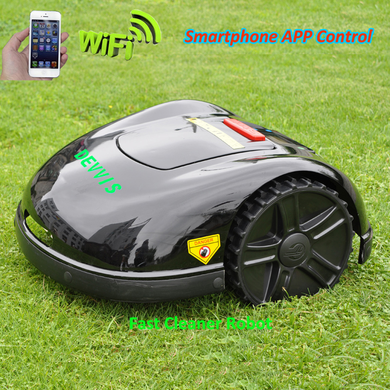 2020 Newest 5th Generation DEVVIS Lawn Mower Robot Grass Cutter For Big Lawn With 13.2ah Lithium Battery,Water-proofed Charger