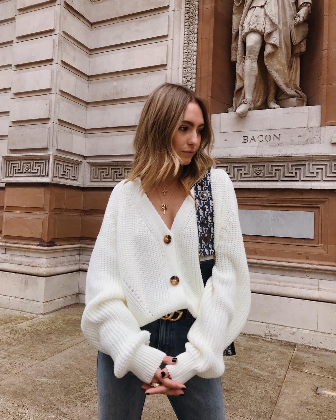 New European Women Autumn Winter Warm Sweaters Split Cardigan Long Sleeve Loose V-neck Button Thicken Cardigan Women Sweaters