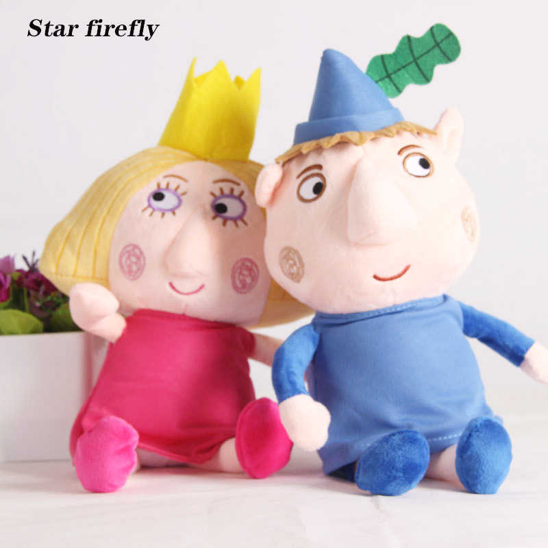 2pcs 30cm Ben and Holly Plush Toys Cartoon Ben Holly Figures Dolls Kids Birthday Christmas Gift