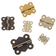 10PC 5 sizes Mini Butterfly Door Cabinet Drawer Jewellery Box Hinge Furniture(China)