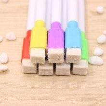 6Pcs/Set Whiteboard Erasable Marker Pen With Eraser School Supplies L21B