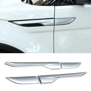 Image 2 - 2 個車のブラックシルバーサイドエアベントアウトレットカバーデコレーションステッカーランドローバーレンジローバーevoque 2012 2013 2014 2015 2016 2017