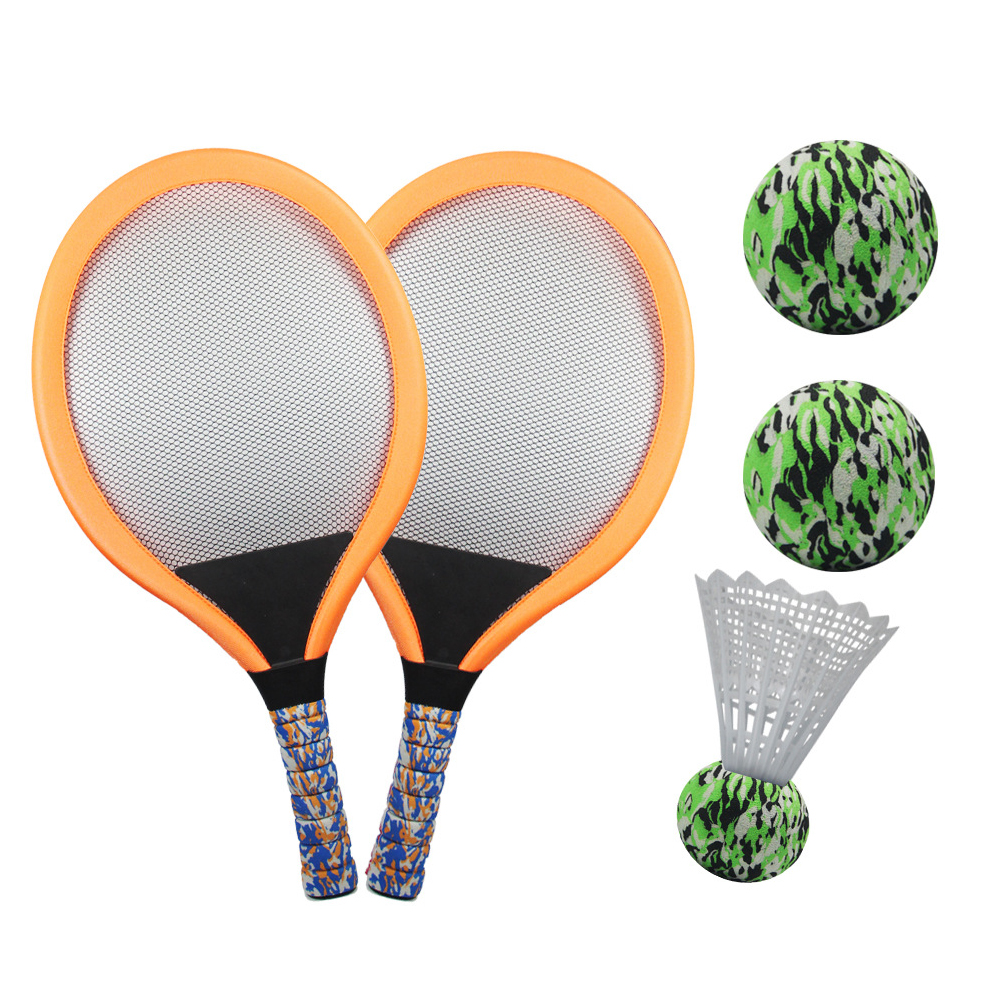Tennis raquette ensemble intérieur Durable Sports de plein air Badminton balle formation plage jouet pratique maternelle Portable enfants cadeau drôle