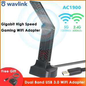 Image 1 - Wavlink AC1900 Dual Band USB 3.0 wifi adaptörü 1900Mbps 5.8G kablosuz wifi alıcısı 2.4GHz WLAN ağ kartı için Windows mac OS X
