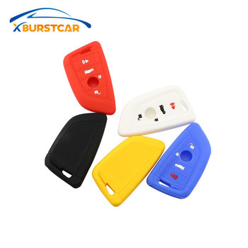 Xburstcar 3 Buttons for BMW 1 2 5 Series 218i X1 F48 X5 X6 F15 Smart Remote Car Key Case Shell Silicone Car Key Cover Case image