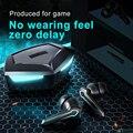 Наушники-вкладыши TWS с игровая гарнитура Bluetooth 5,1 65 г-жа низкой задержкой Беспроводной наушники с басами Спортивные Bluetooth наушники для геймер...