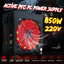 2020 NEW 850W Power Supply Active PFC Silent Fan ATX 12V PC Computer SATA Gaming PC Power Supply with LED For Computer