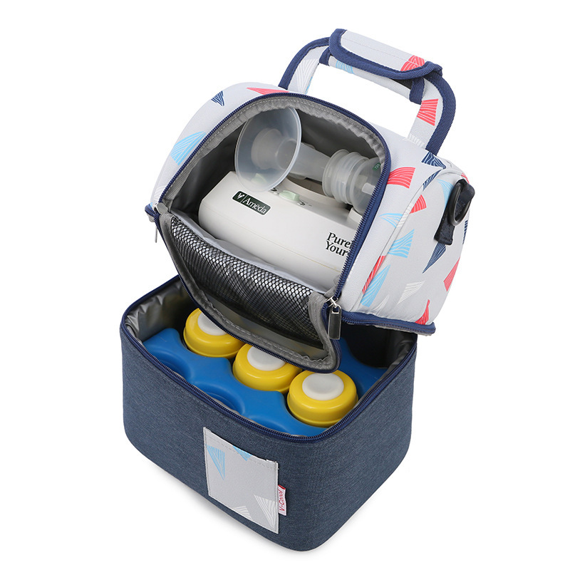 V-Coool 2-Layer Fashion Baby Bottle Diaper Bag Backpack Mom Maternity Messengers Milk Fresh Storage Cooler Bags 2019 DEO