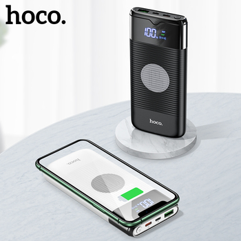 hoco Power Bank 10000mAh Wireless Charger Power bank PD+QC3.0 18W Fast Charging USB Powerbank External Battery for iphone Xiaomi