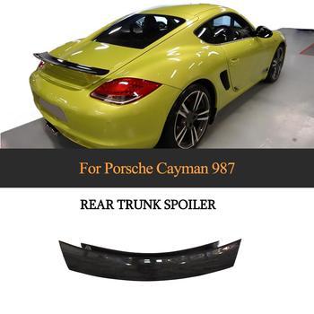 For Porsche 987 Cayman 2005 - 2012 Car Rear Trunk Spoiler Wing Carbon Fiber Spoiler Boot Lip Wing