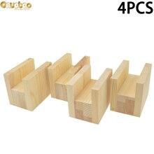 Onuobao 4PCS Wood Furniture Increase Pad Heighten 5cm/10cm Through-groove for Office Desks Computer Desks Furniture Etc