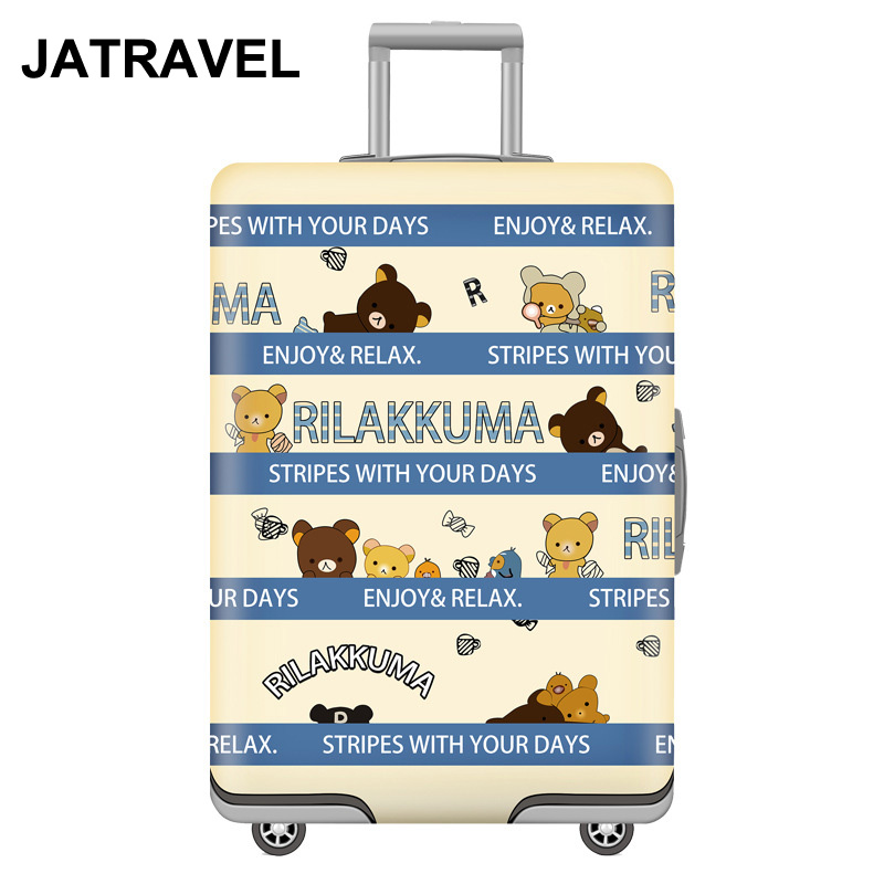 JATRAVEL Bear Travel Luggage Protective Cover Suitcase Case Travel Accessorie Elastic Luggage Cover Apply To 18-32inch Suitcase