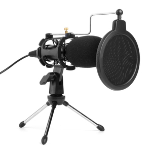 Image 3 - Video Microphone Kit USB Plug Home Stereo Condenser MIC Desktop Tripod for PC YouTube Video Skype Chatting Gaming Recording