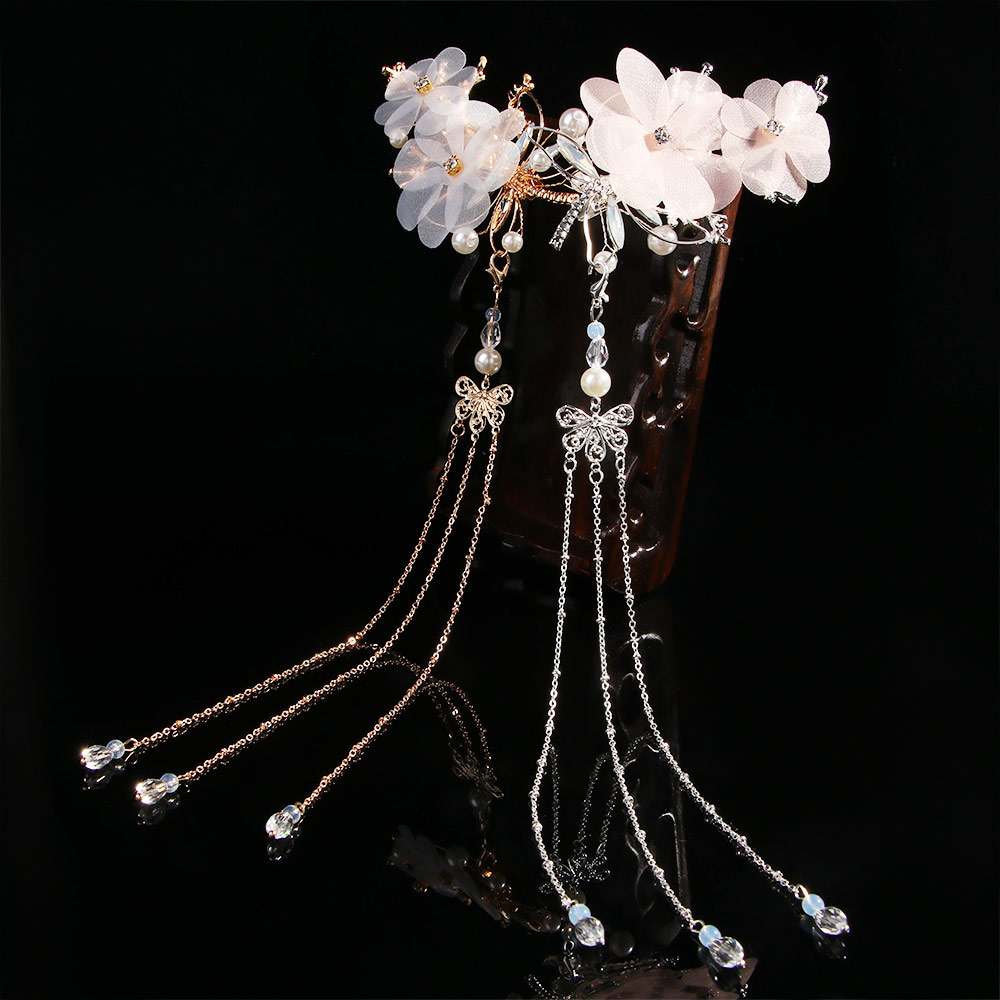 1pcs Chinese HANFU Traditional Classical Style Tassel  Hair Accessories Elegant Wedding Classical Dragonfly Butterfly Headwear