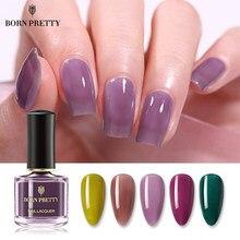 BORN PRETTY – vernis à ongles Semi-transparent, 7ml, rouge, violet, Semi-cristal, Design, décoration des ongles