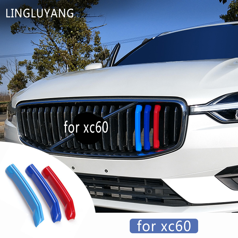 For Volvo Xc60 Standard 2018 Model Three-color In The Net Decorative Strip New In The Network Modified Special Color Stickers