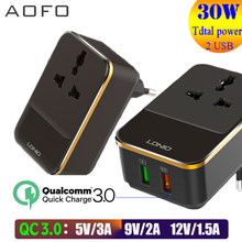 EU Travel Adapter, Universal Plug AdapterInternational Travel Plug Quick Charge 3.0/30W Adapter Charger(China)