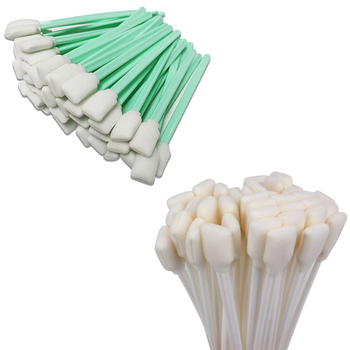 100Pcs Cleaning Swabs for Roland Epson Mimaki Mutoh All Large Format Solvent Printer Printhead Sponge Sticks Swabs Buds