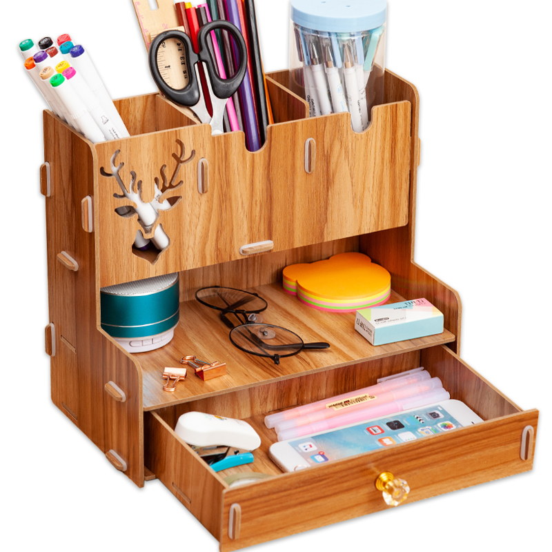 Box Storage-Rack Desk-Organizer Pencil-Holder Office-Supply Stationary Multi-Functional