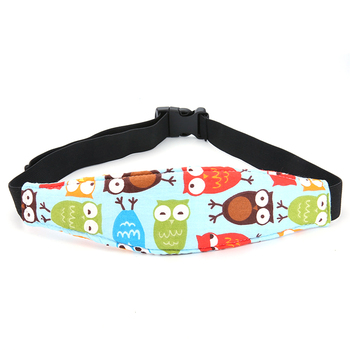 Infants Soft Sleep Head Support Safety Strap With Cover Car Seat Cushion Car Accessories Pad Head Belt Baby Protection Support image