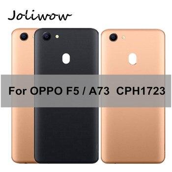 Para OPPO F5 / A73 CPH1723, cubierta de la carcasa de la puerta trasera de la batería con reparación de la lente para OPPO A73, cubierta de batería
