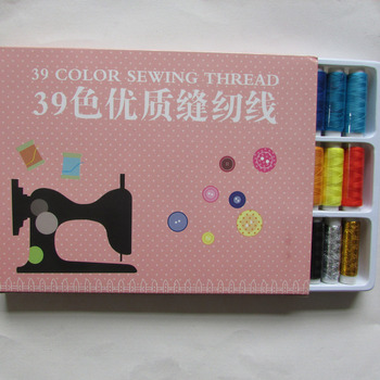 Venta al por mayor, alta calidad, 100 yardas, diferentes colores, punto de cruz, hilo de algodón bordado, costura, 1 caja