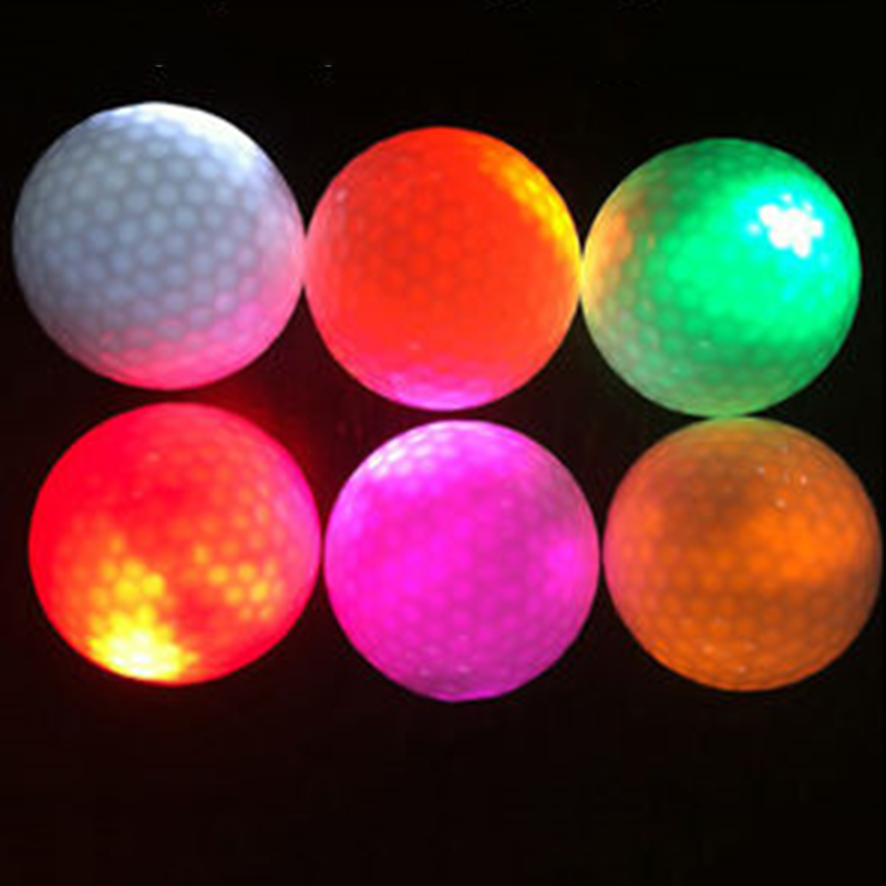 Multi Color Glowing Light-up Flashing LED Electronic Golf Balls Night Golfing US
