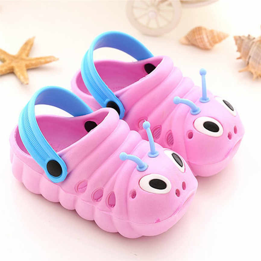Animal Prints Toddler Kid Boys Girl Cute Cartoon Beach Non-slip Slippers Flip Shoes Infant Cartoon Flat Heels Solid Baby Shoe 70