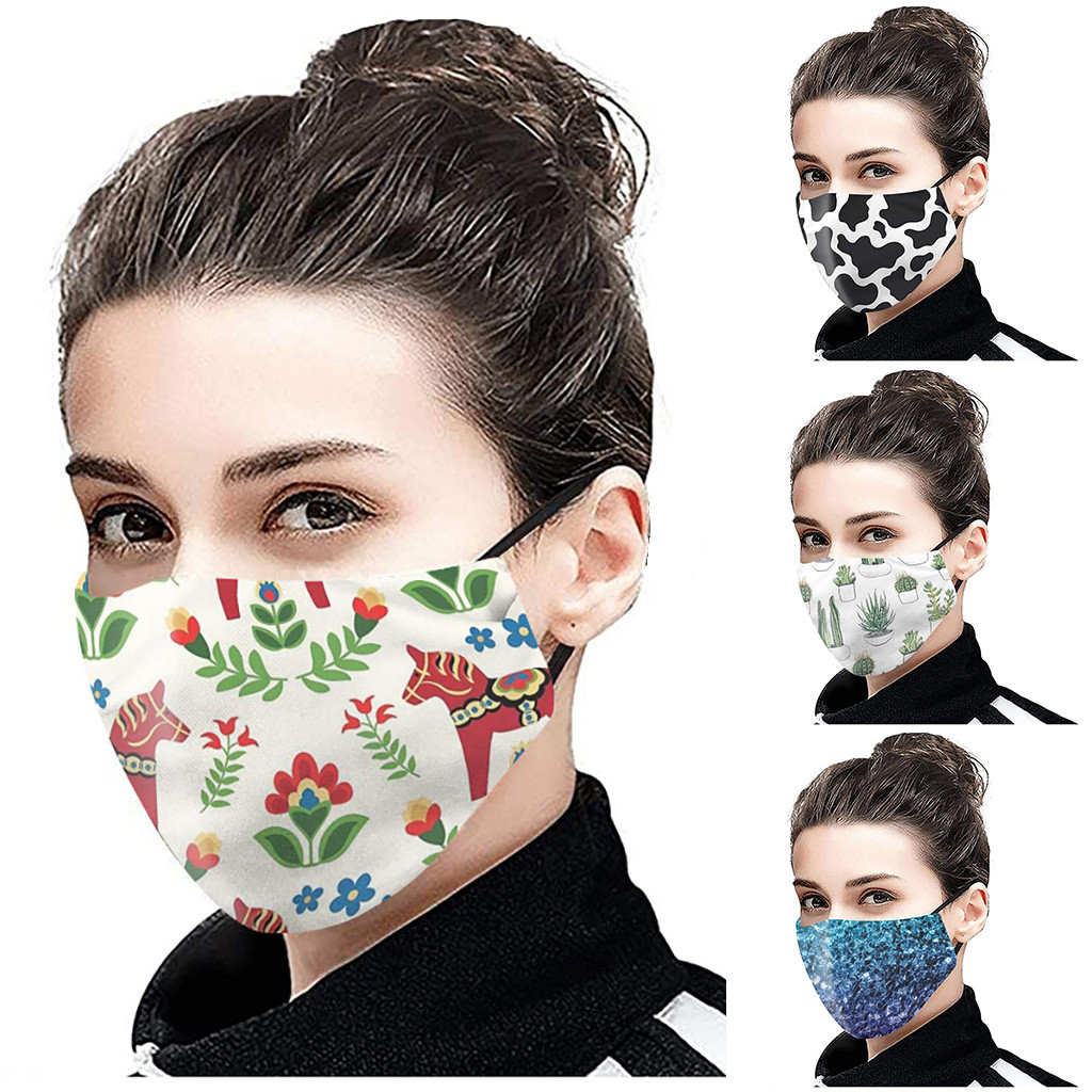 1PC Mask With 2PC Filter Outdoor Face Washable Breathable Reusable Mouth Mask Face Shield Respirator Masques Mask for Women