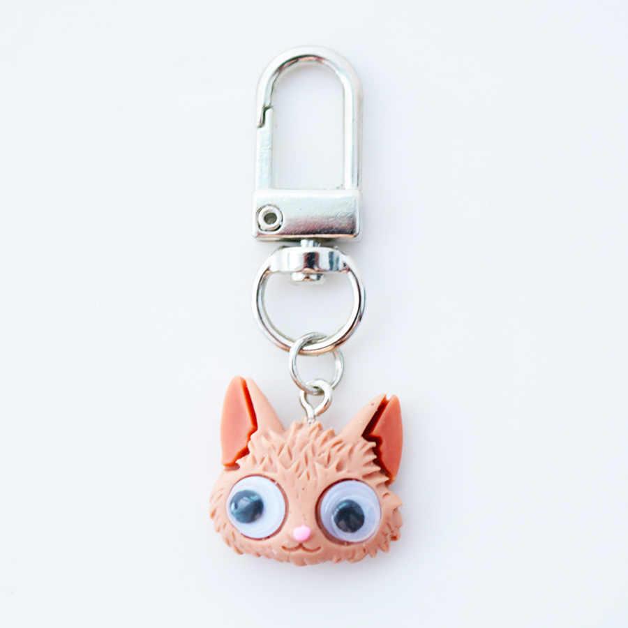 2019 новый милый брелок мультяшный для кошек, собак, кроликов брелок животные брелок для Мужская цепочка для ключей или Wo Мужская цепочка для ключей для девочек брелок для ключей