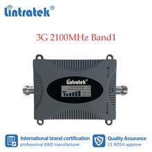 Lintratek 3G 셀룰러 부스터 2100MHz 휴대 전화 신호 리피터 인터넷 데이터 통신 증폭기 2100 WCDMA LCD 디스플레이 dd