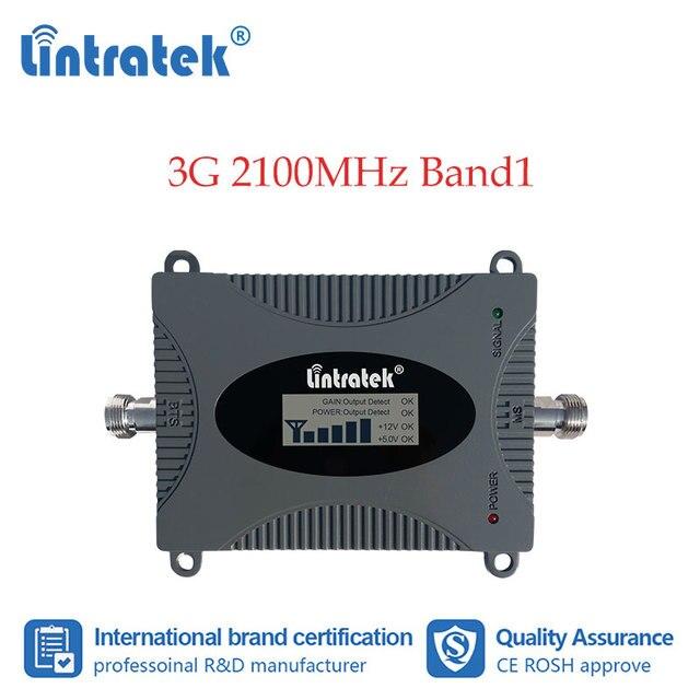 Lintratek 3G amplificateur cellulaire 2100MHz répéteur de Signal de téléphone portable amplificateur de Communication de données Internet 2100 WCDMA écran LCD dd