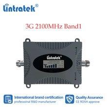 Lintratek 3g celular impulsionador 2100 mhz telefone celular repetidor de sinal internet dados comunicação amplificador 2100 wcdma display lcd dd