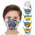 Модная маска, детская многоразовая маска для игр Superzings, моющаяся маска для мальчиков, тканевая маска для лица с принтом, забавные детские ма...