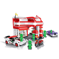 2019 NEW City Series Car Gas Station Kids Building Blocks Sets Bricks Classic Model Toys For Children Gift