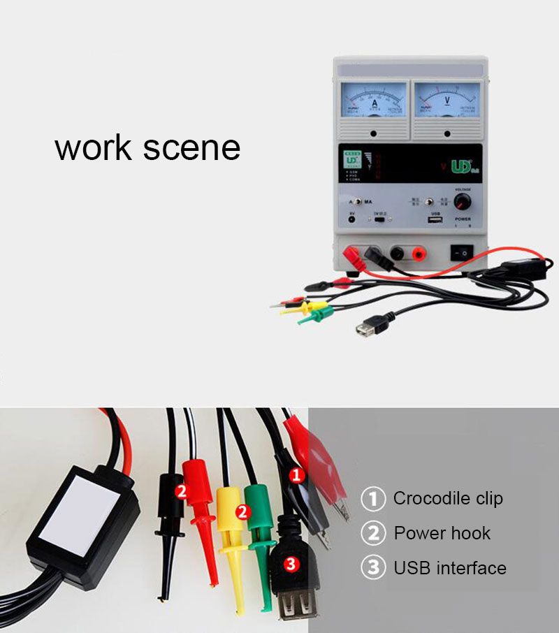 1PCS Universal  Multifunctional Mobile Phone Maintenance Power Wire DC Voltage Regulating Power Supply Interface Line