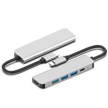 5 In 1 USB C HUB USB 3.0 HUB Type C USB 3.1 Splitter PD USB-C Dock Support SD/TF Card Adapter OTG For Macbook HUAWEI P30 Samsung