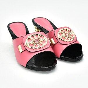 Image 2 - Zapatos de tacón alto para verano con plataforma para mujer, zapatos de tacón alto Sexy, italianos, de alta calidad, estilo africano, 2020