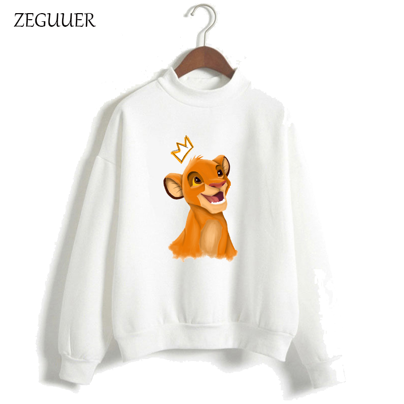 The Lion King HAKUNA MATATA Streetwear Hipster Kawaii Print Hoodies Pink Hoodies Women Harajuku Sweatshirt Clothes Women Hoodies