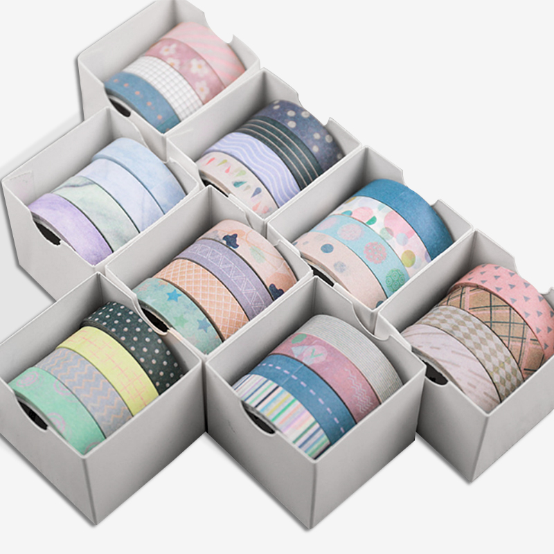 4 Pcs Basic Washi Tape Cute Masking Tape Kawaii Adhesive Tape DIY Scrapbooking Bullet Journal Stationery School Office Supplies