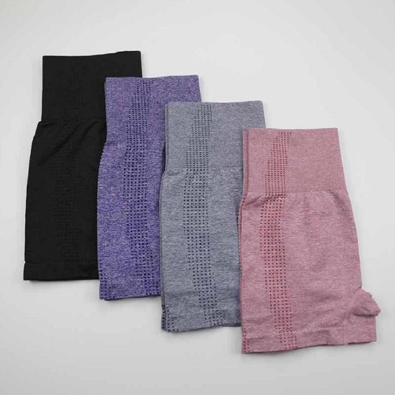Новые стильные бесшовные леггинсы с высокой талией, шорты для спортзала, фитнеса, йоги, шорты для занятий йогой, розовые шорты из спандекса