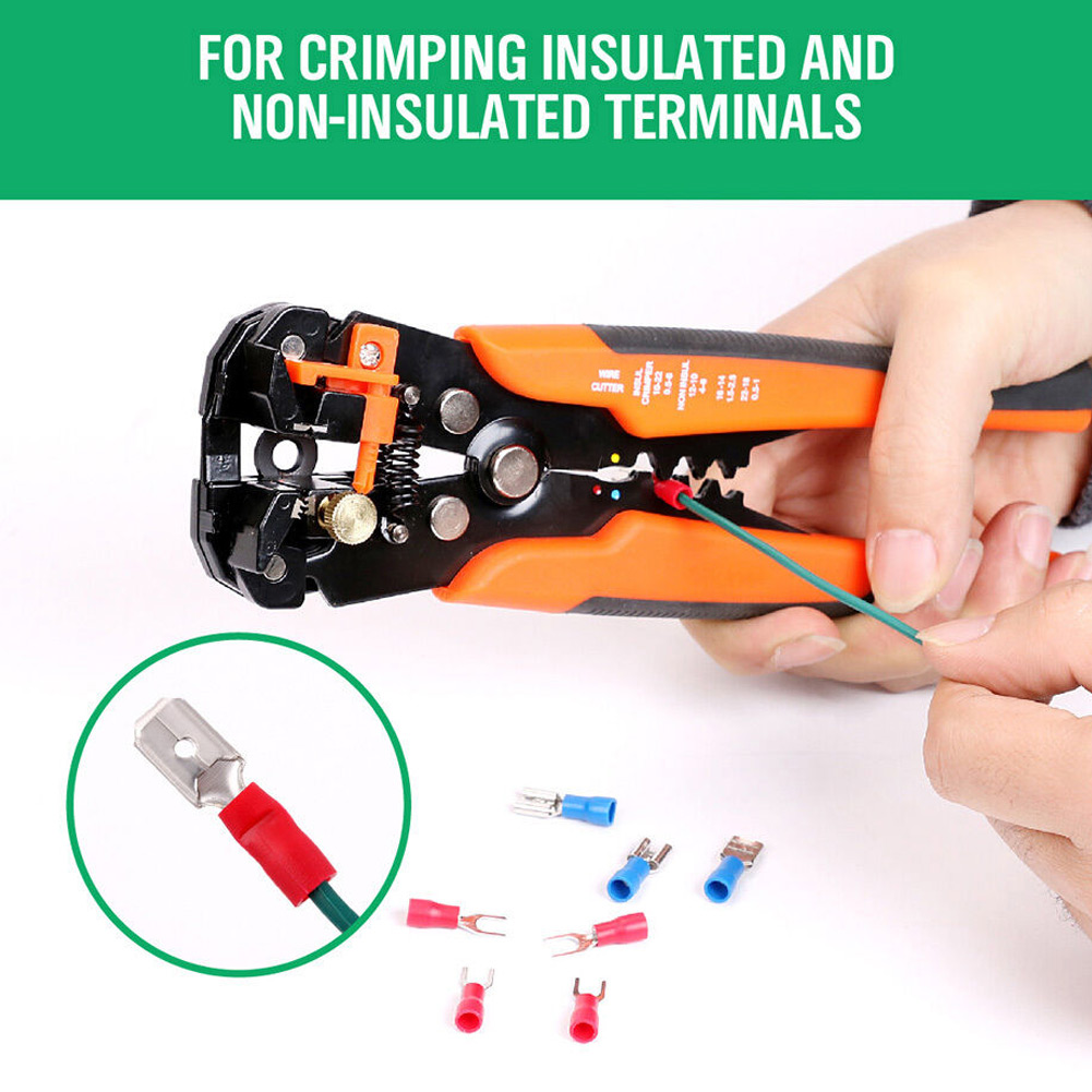 HOT 5 In 1 Self Adjusting Insulation Wire Stripper Cutter Crimper Cable Stripping Tools NDS66|Pliers| |  - title=
