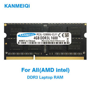 KANMEIQi DDR3 4GB 8GB 2GB PC3L 10600S 1333Mhz 4gb Laptop Memory 2G 4G 8G pc3 1600MHZ 1866MHZ Notebook Module SO-DIMM RAM New