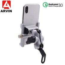 アルミオートバイ電話ホルダー QC3.0 急速充電モトハンドルバックミラーブラケット 4 6.5 インチの携帯電話用スタンドマウント