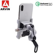 Support de téléphone pour Moto en aluminium QC3.0 charge rapide Moto guidon support de rétroviseur support pour 4 6.5 pouces support de téléphone Mobile