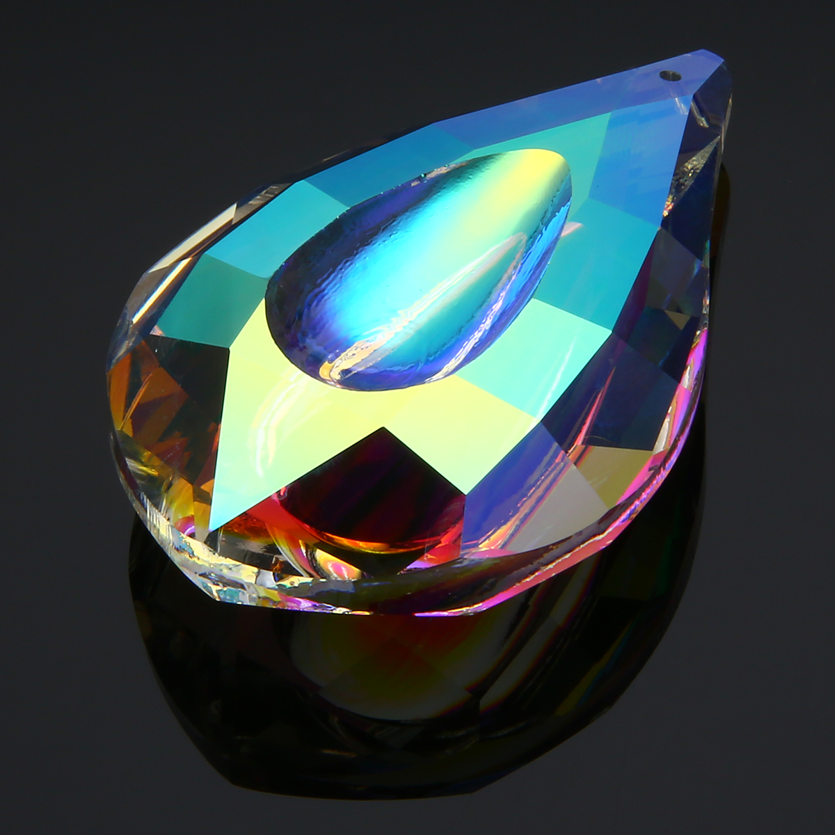 1pc 76mm Colorful Chandelier Glass Crystals Drops K9 Crystal Lamp Prisms Parts Drops Pendants