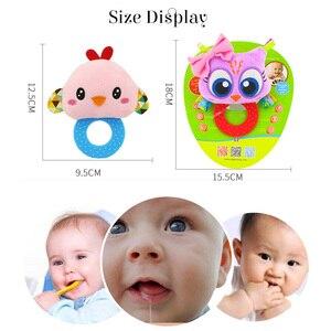 Image 5 - Animaux main cloches anneau de dentition hochet poupée en peluche bébé hochets jouets infantile Newbron éducation précoce jouets singe Panda Lion chien